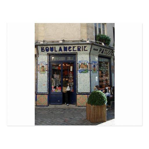 ~ Paris France da loja do pão e de pastelarias Cartoes Postais