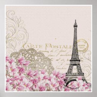 Paris, France, poster vintage