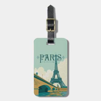 Paris France - torre Eiffel Etiqueta De Bagagem