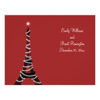 Paris ilumina o programa do casamento flyer 21.59 x 27.94cm