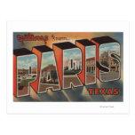 Paris, letra ScenesParis de TexasLarge, TX Cartão Postal