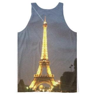 Paris na noite: Torre Eiffel Regata Com Estampa Completa