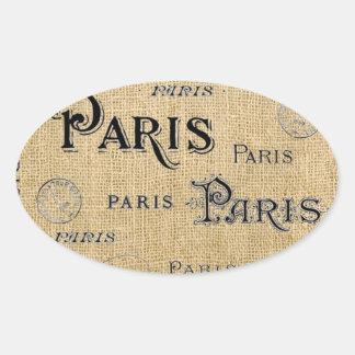 Paris na serapilheira adesivo oval