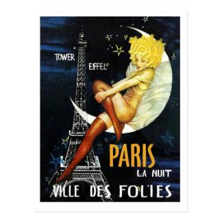 Paris no cartão da noite