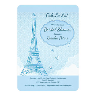 Paris no convite azul