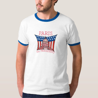 Paris para o presidente camiseta