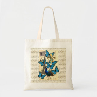 Paris pavão e borboletas bolsas
