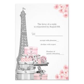 Paris RSVP Convite 8.89 X 12.7cm