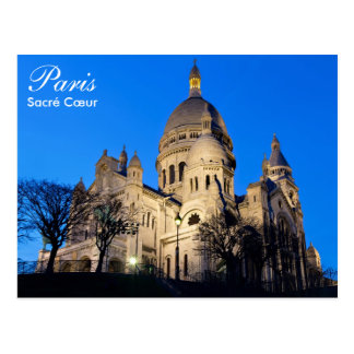 Paris - Sacré Cœur no cartão da noite
