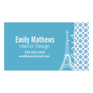 Paris, torre Eiffel, bolinhas dos azuis bebés Cartoes De Visita