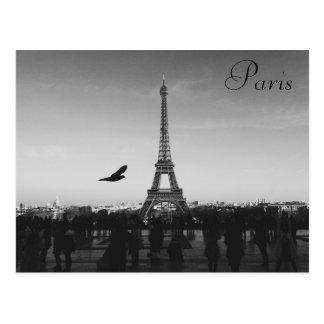 Paris, torre Eiffel, cartão