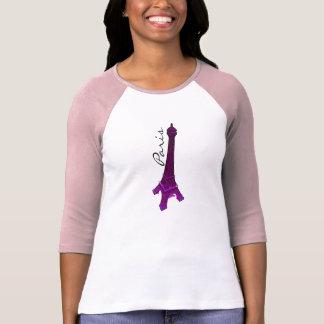 Paris, torre Eiffel roxa T-shirts