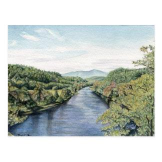 Parkway azul de Ridge no cartão de James River