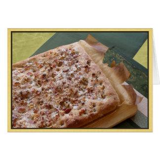 Parmesão do cartão de nota, bacon & noz vazios