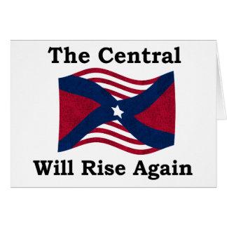 Paródia da guerra civil cartão comemorativo
