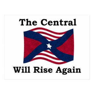 Paródia da guerra civil cartão postal