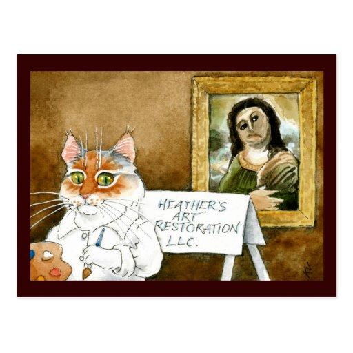 Paródia espanhola do fresco da restauração da arte cartoes postais