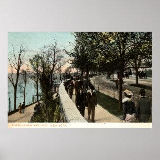 Parque 1906 do beira-rio e movimentação, Nova Iorq Pôster