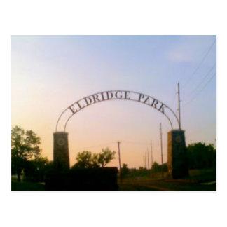 Parque de Eldridge em Elmira, NY no cartão do por