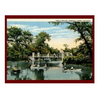 Parque de Garfield, vintage 1917 de Chicago, Illin Cartão Postal
