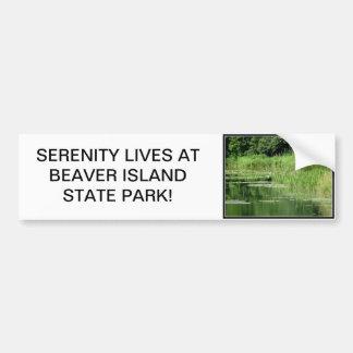 Parque estadual da ilha do castor adesivo para carro
