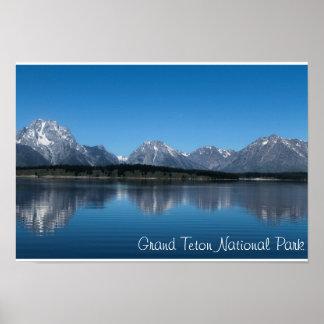 Parque grande da nação de Teton Pôster