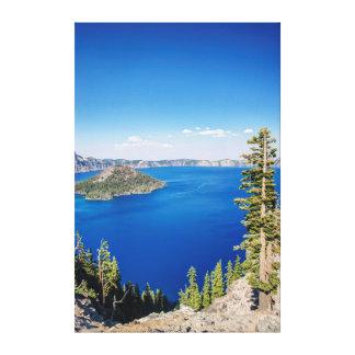 Parque nacional 2 dos EUA, Oregon, lago crater Impressão Em Tela