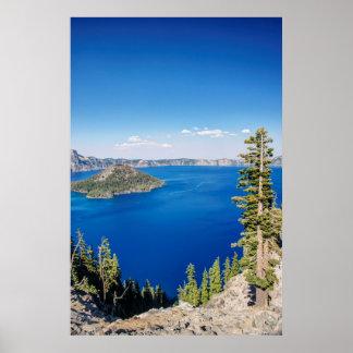 Parque nacional 2 dos EUA, Oregon, lago crater Poster