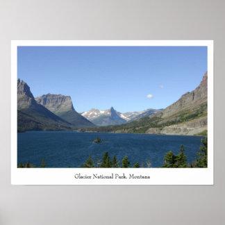 Parque nacional de geleira - poster da opinião do