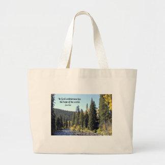 Parque nacional de montanha rochosa com citações sacola tote jumbo