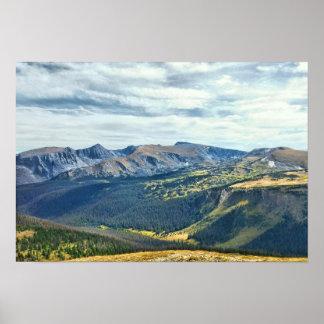 Parque nacional de montanha rochosa pôster