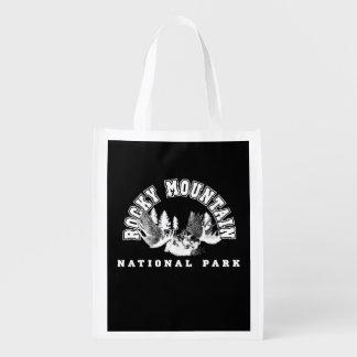 Parque nacional de montanha rochosa sacolas reusáveis