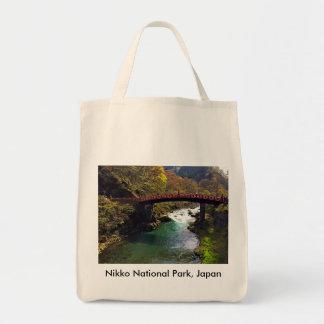Parque nacional de Nikko, sacola do algodão de Sacola Tote De Mercado