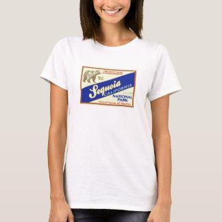 Parque nacional de sequóia (urso preto) camiseta