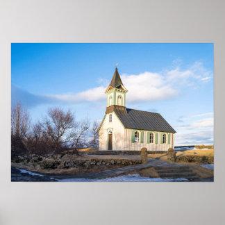 Parque nacional de Thingvellir em Islândia Posters