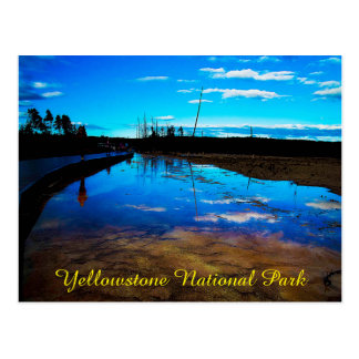 Parque nacional de Yellowstone do cartão