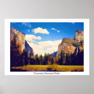 Parque nacional de Yosemite Pôster