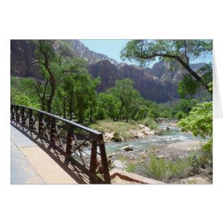 Parque nacional de Zion Cartão De Nota