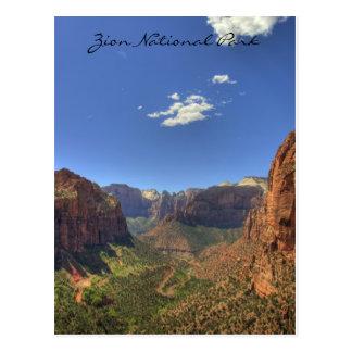 Parque nacional de Zion, cartão de UT