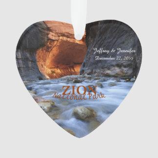 Parque nacional de Zion, os estreitos, ornamento