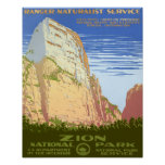 Parque nacional de Zion Poster