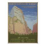 Parque nacional de Zion Springdale 1938 Utá Cartão Postal
