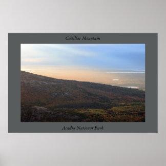 Parque nacional do Acadia da montanha do cadillac Poster