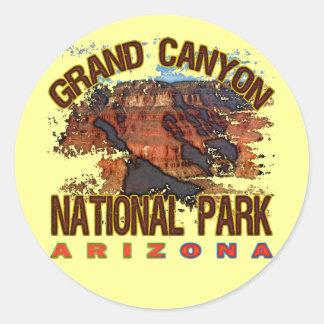 Parque nacional do Grand Canyon Adesivo Em Formato Redondo