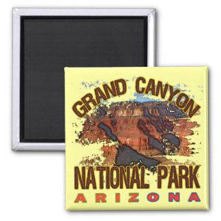 Parque nacional do Grand Canyon Ímã Quadrado
