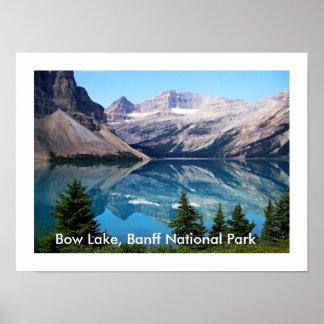 Parque nacional do lago bow, Banff, Canadá Pôster