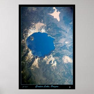 Parque nacional do lago crater, cargo satélite de  poster