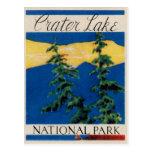 Parque nacional do lago crater cartao postal