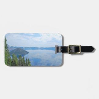 Parque nacional do lago crater etiqueta de bagagem