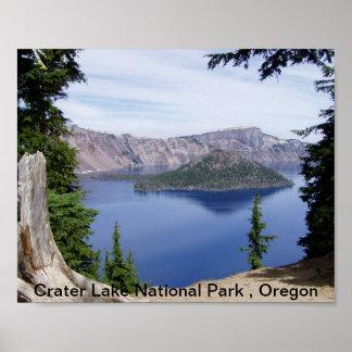 Parque nacional do lago crater, Oregon Poster